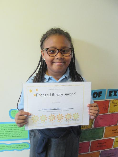 Lizzie - Bronze Librarian Award