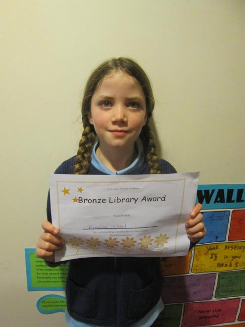 Amelie - Bronze Librarian Award
