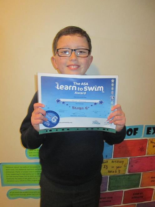 Oliver - Level 6 swimming award