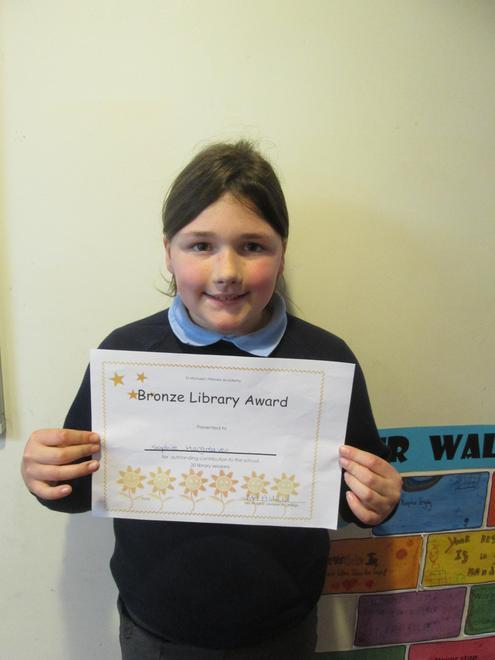 Sophie - Bronze Librarian Award