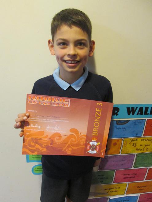 Bailey - Bronze Level 3 Lifeguard award