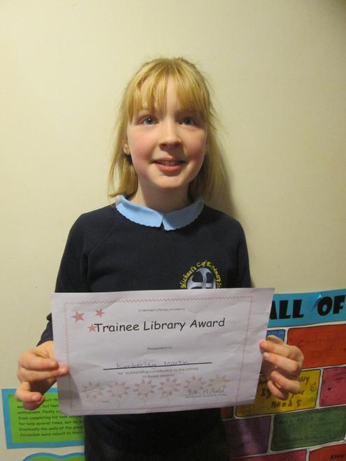 Kimberley - Trainee Librarian Award