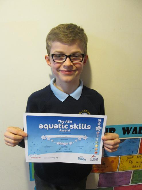 Jacob - Level 8 swimming award