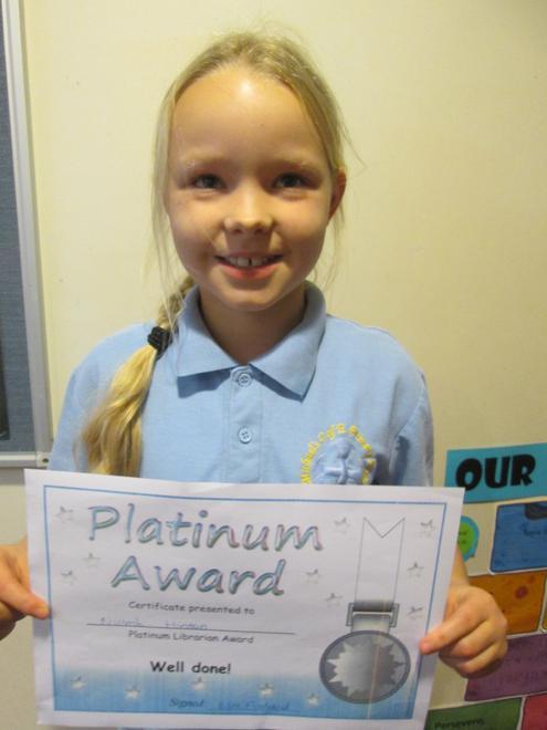 Niamh - Platinum Librarian Award