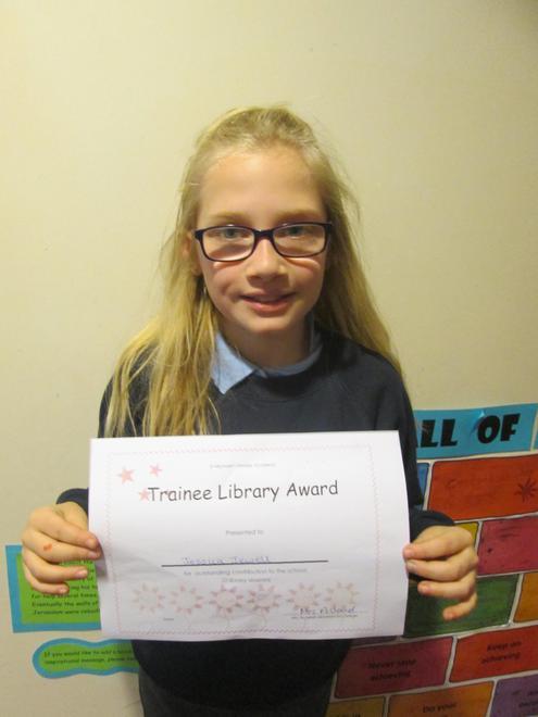 Jessica - Trainee Librarian Award
