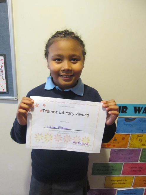 Lizzie - Trainee Librarian Award