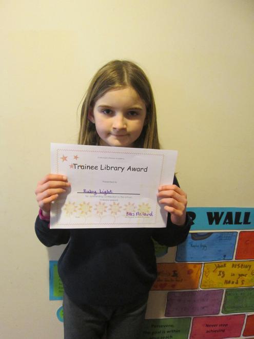 Ruby - Trainee Librarian Award