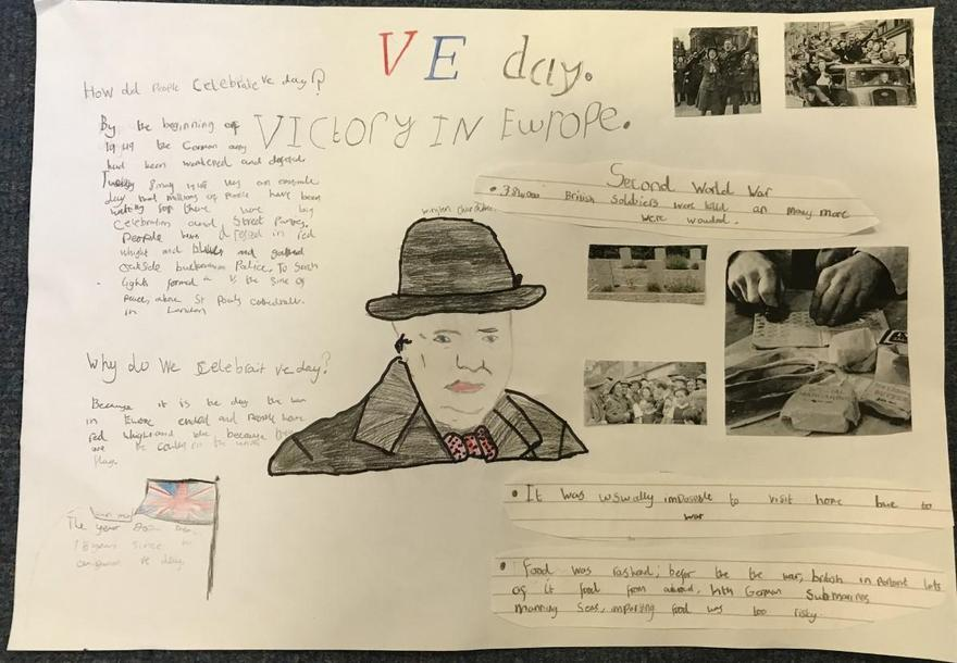 Some great VE Day work produced in school
