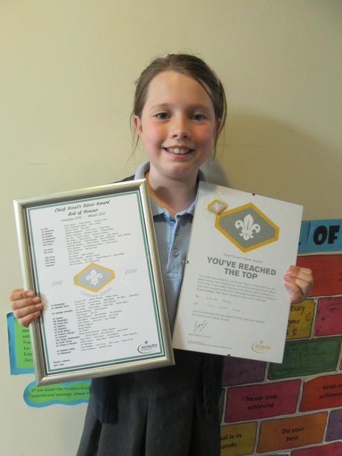Lauren - Chief Scout SIlver Award (Cubs)