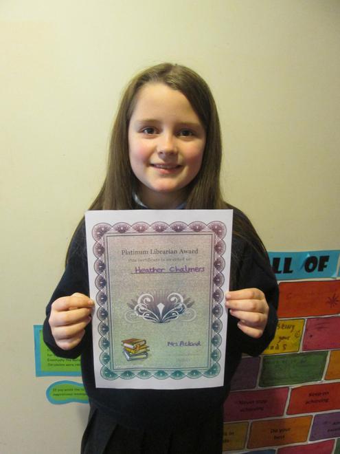 Heather - Platinum Librarian Award