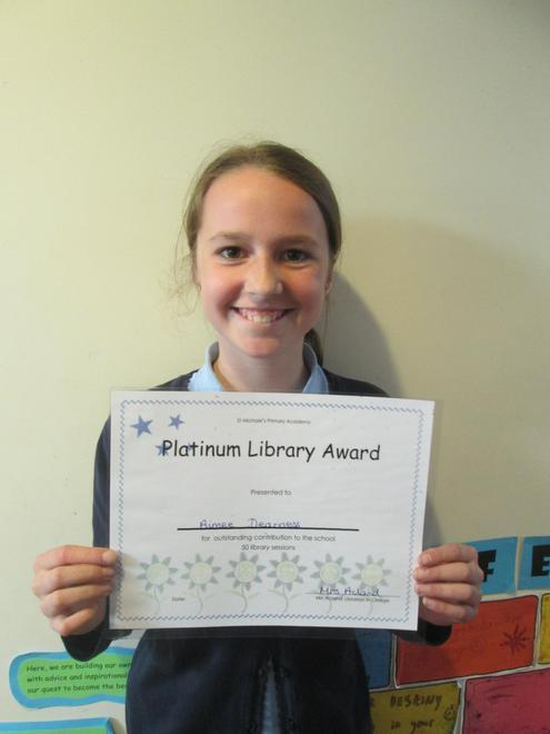 Aimee - Platinum Librarian Award