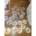 Lucy made rainbows for the elderly on her street