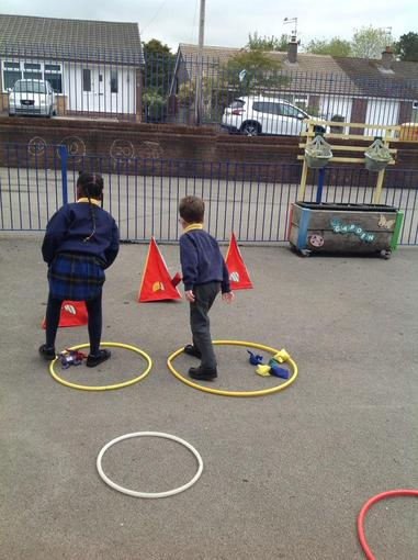 Working together to achieve a goal.