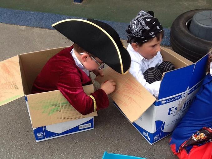 Boat imaginative play