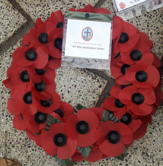 The wreath from St. Michael's Primary School