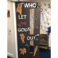 Class door reading display