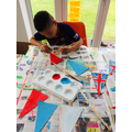 Theo Making bunting for VE Day