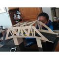 Euan has made an amazing truss bridge