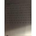 Alfie W's beautiful handwriting