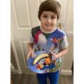 Samuel's healthy plate!