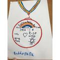 Teddy's medal design
