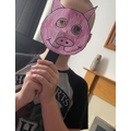 Harry's pig mask - very creative!
