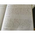 Josh's fantastic English work!