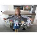 Isla's paper chain