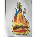 Euan's colourful flame
