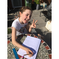 Isla's working hard on her maths homework