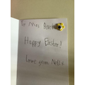 Nell's Easter card for Mrs Birch!