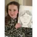 Isla's self portrait