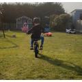 Jacob on his bike