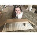 Evie re-inforced her bridge with kitchen rolls