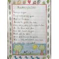 Evie's fabulous onomatopoeic nature poem