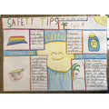 Evie' safety poster -the bright colours really out