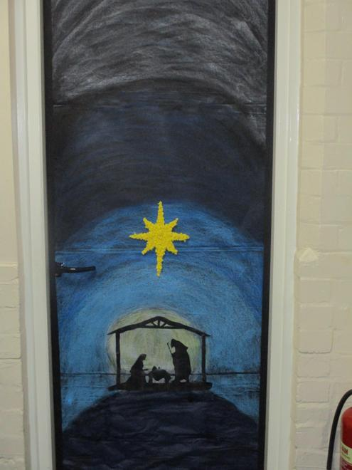 Year 5 have decorated their classroom door to celebrate the birth of Jesus.