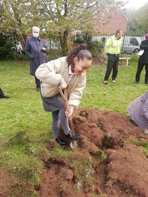 Ava enjoying digging the foundations!