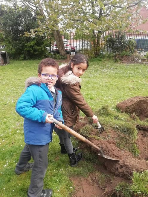 Gabriel and Karanjit showing others what they need to do!