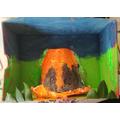 Erupting volcano by Sukdeep Y5