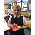 Making and painting salt dough peppers