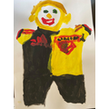 Harry C in his football kit