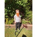 Sebby the garden gnome!