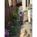 Sebby the gardener!