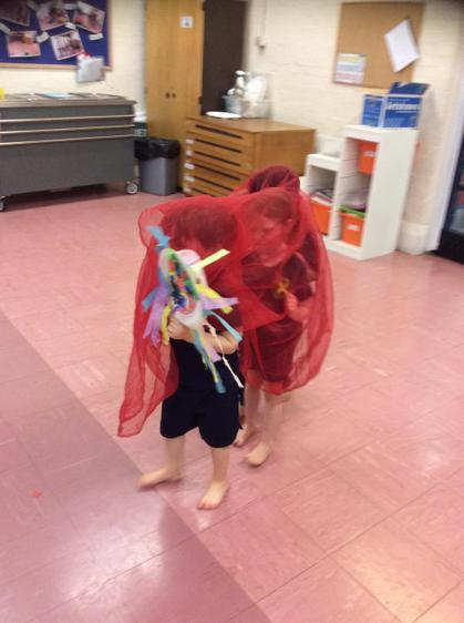 Reception class made their own Chinese dragon