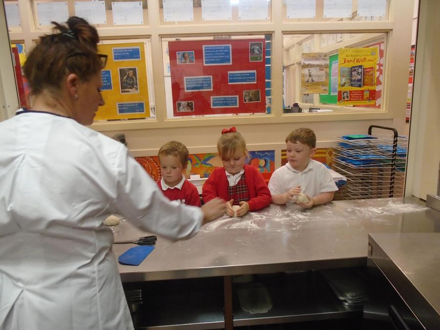 Baking bread with Mrs Cooper
