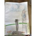 Ruby drew a picture of the memorial in St Michaels