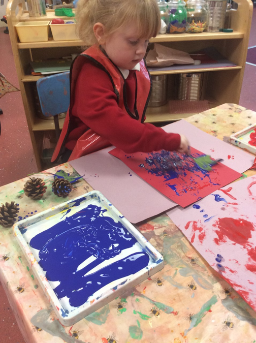 Painting with natural resources