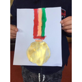 Sam designed a medal!