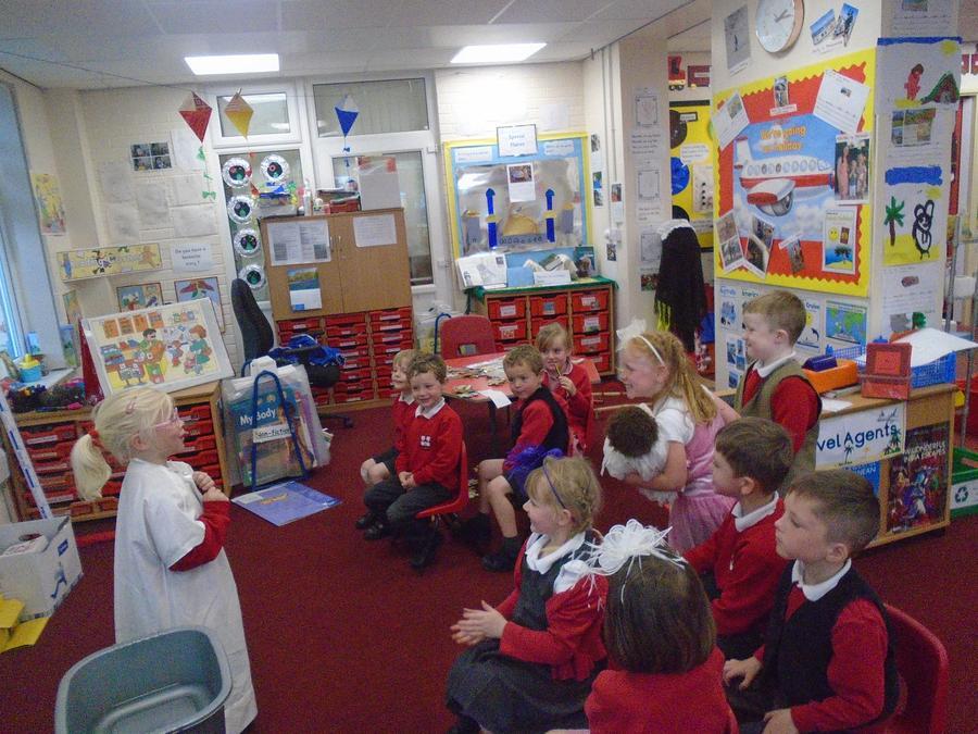 This vicar even sang a hymn!